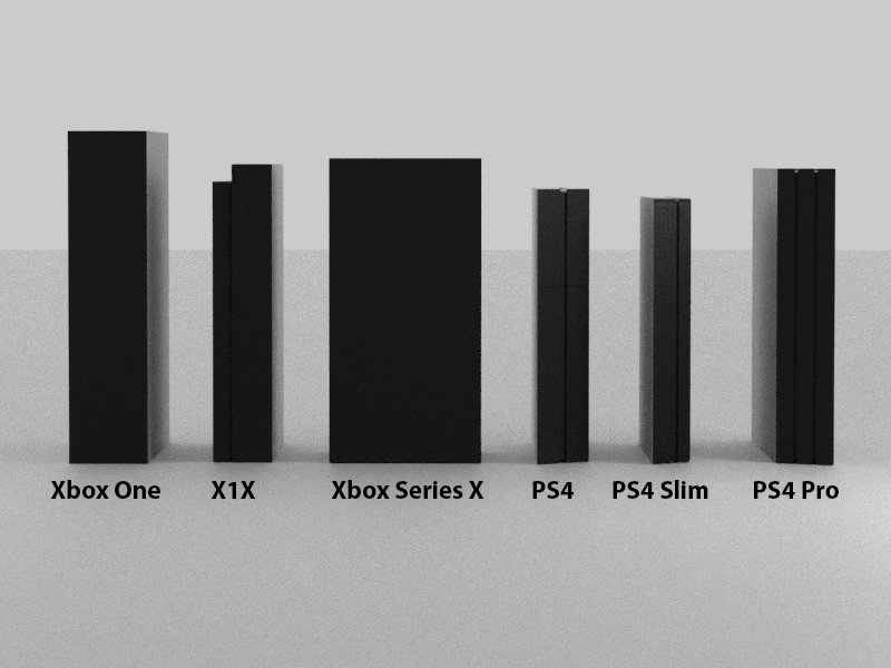 Xbox Series X Mock Up Images Compare Size To Other Consoles Vgc