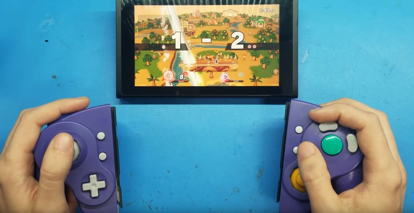 Awesome GameCube Joy-Cons created by modder class=