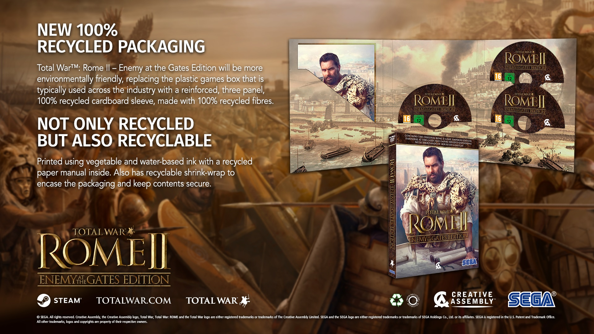 SEGA Europe commits to recycled cardboard boxes for all PC games