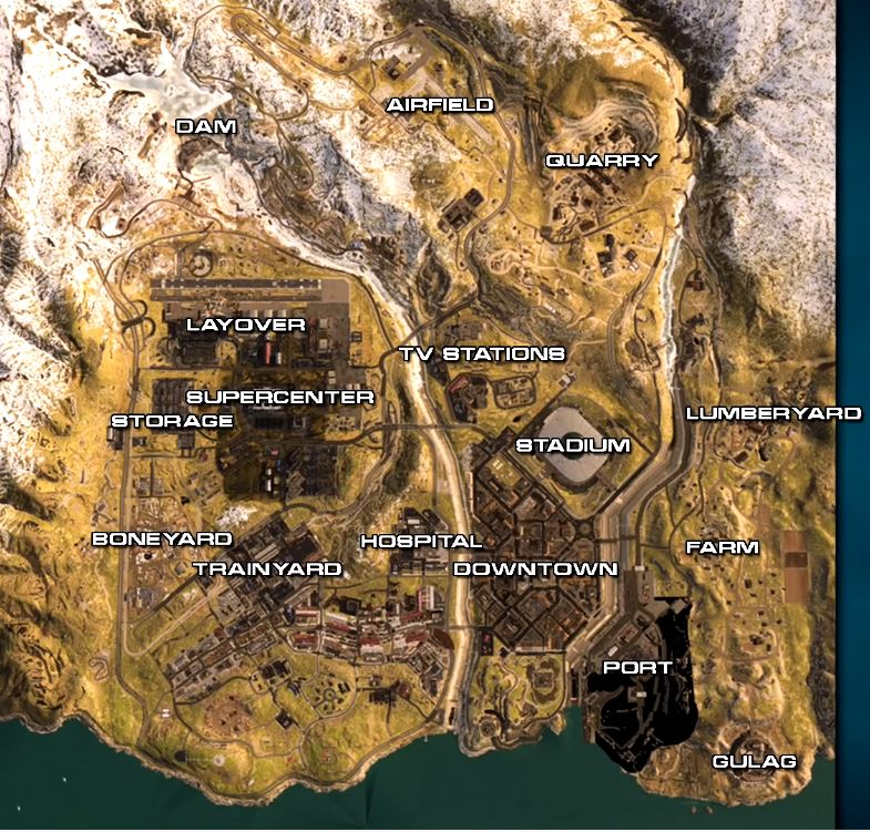 Call Of Duty Battle Royale Map Explored In New Video Vgc