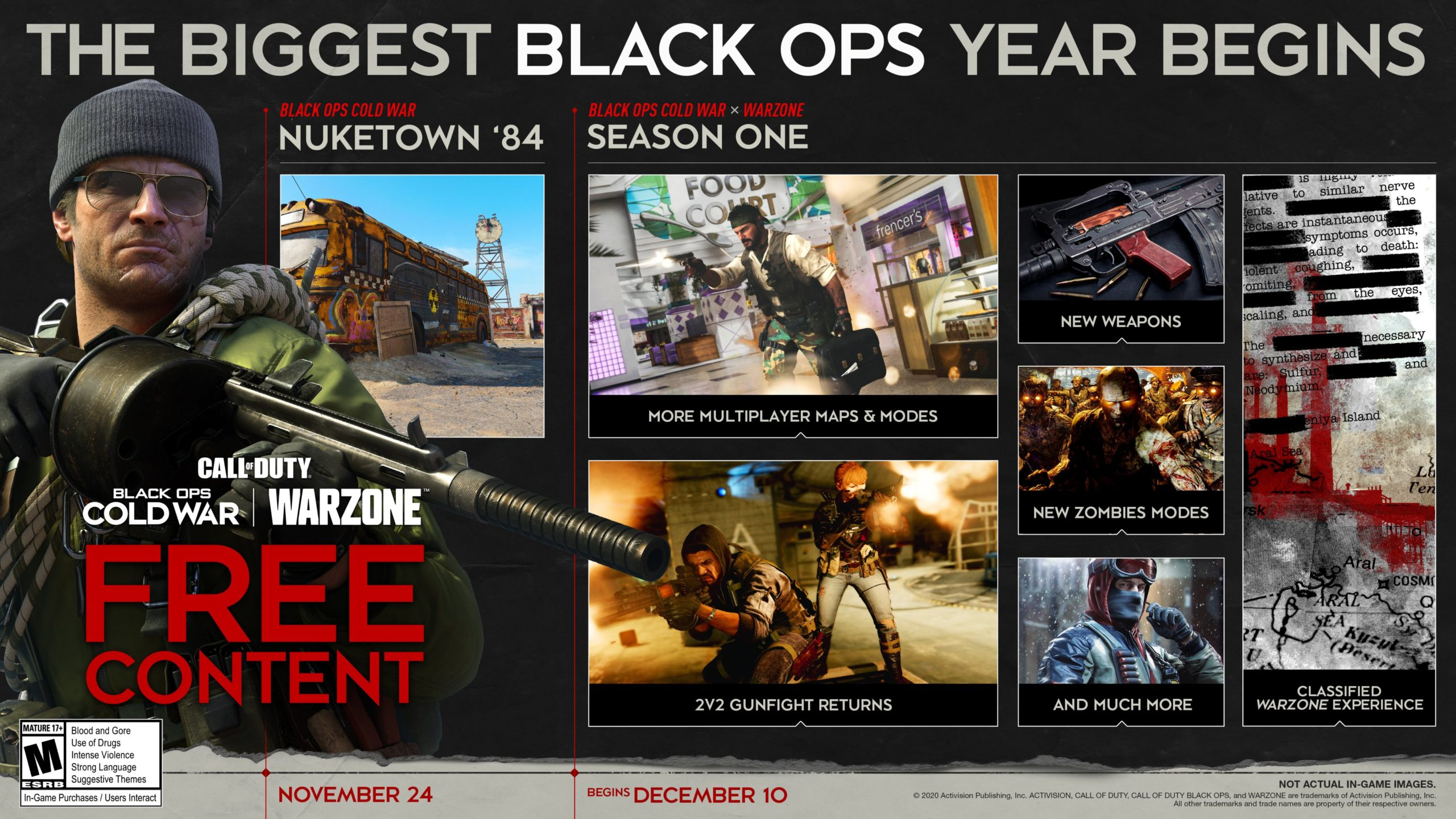 Call Of Duty Black Ops Cold War S Season 1 Start Date And Roadmap Have Been Revealed Vgc