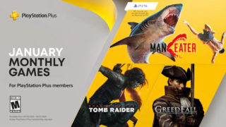 January's PlayStation Plus games include Shadow of the Tomb Raider